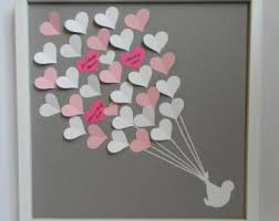 bridal shower gift ideas for guests wedding guest book alternative 3d paper hearts lovely bridal