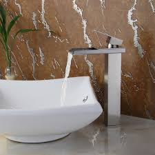 bathroom gorgeous vessel sink faucet in ceramic sink