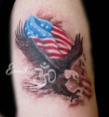 Eagle And Flag Tattoos Patriotic Eagle Tattoos Black And White Insignia Pictures To Pin