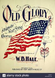 Flag Day Songs Sheet Music Cover Image Of The Song U0027old Glory A Patriotic War