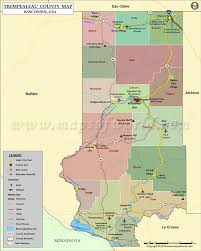 Counties In Wisconsin Map by Trempealeau County Map Wisconsin