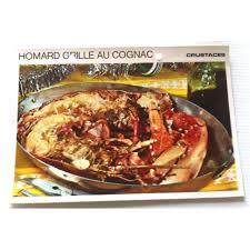 homard cuisine fiche cuisine vintage rétro homard grillé au cognac