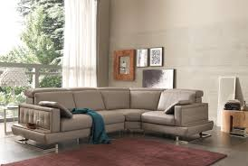 couch taupe salotti pegaso modern taupe leather sectional sofa