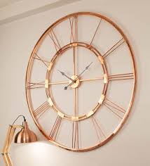wall clocks buy copper finish metal wall clock by craftter online vintage