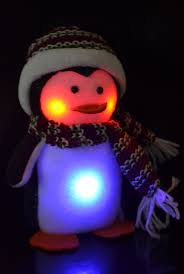 knit hat with led lights led light up penguin colour changing with knitted hat scarf led