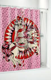 sourpuss carousel horse shower curtain sourpuss clothing