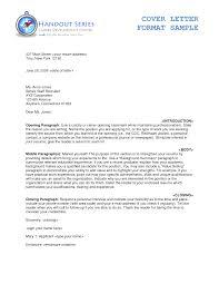cover letter cover letter format example cover letter sample