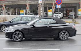 spy photos 2018 bmw 2 series convertible reveals updated front