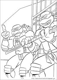 ninja turtles coloring pages free kids