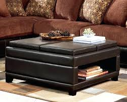 cushion coffee table with storage leather ottoman table storage hotrun
