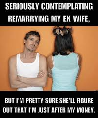 Ex Wife Meme - seriously contemplating remarrying my ex wife but i m pretty sure