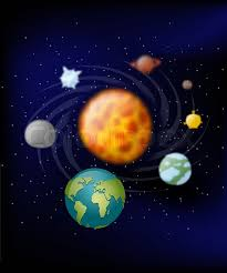 planets of solar system moon and earth jupiter and mars sun