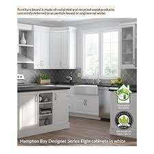 wall kitchen white cabinets hton bay designer series melvern assembled 33x24x12 in
