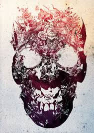 floral skull design in 2017 photo pictures