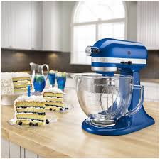 Kitechaid Kitchenaid Mixer Artisan 5 Quart Glass Bowl Mixer Electric Blue