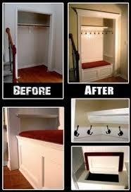 entry closet converted into a mudroom picmia