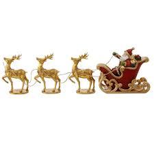 raz santa and sleigh water globe lantern shelley b home and