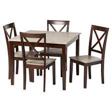 Dining Room Table With Chairs Andover Mills Tilley Rustic 5 Dining Set Reviews Wayfair
