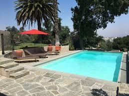 detached hollywood hill guest house with pool and outside dining
