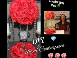 Dollar Tree Vases Centerpieces Diy Dollar Tree Red Floral Arrangement Centerpiece Kissing Ball