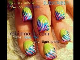 diy nail art foil on lime green nails u0026 pink zebra youtube