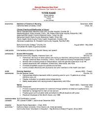 Nurse Resumes Templates Graduate Nurse Resume Example Good Nursing Resume Examples Doc