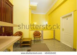 Yellow Reception Desk Reception Desk Hotel Small Stock Images Royalty Free Images