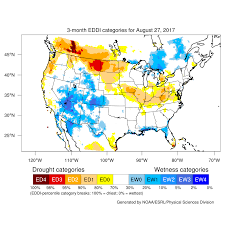 Nebraska On A Map Drought August 2017 State Of The Climate National Centers