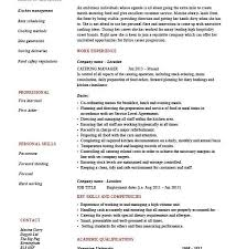 Catering Manager Resume Fancy Catering Resume 8 Catering Manager Cv Template Food