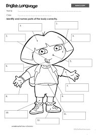 worksheet for grade 1 parts of the body body parts worksheet for