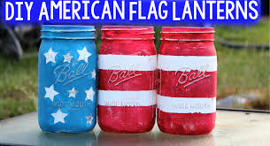 American Flag Home Decor Diy American Flag Lanterns A Little Craft In Your Day