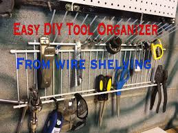 diy tool organizer from wire shelving youtube