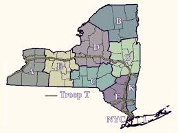 New York Thruway Map by New York State Police