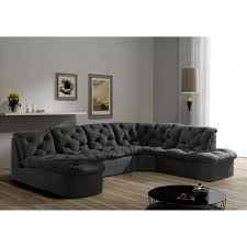 canape angle modulable canapé d angle modulable 7 places gris salon mobilier gifi