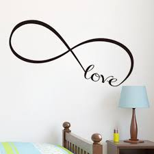 online get cheap love wall stickers aliexpress com alibaba group pvc infinity symbol love art wall stickers bedroom wall decal removable black color size s m l freeshipping