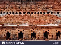 Ziegelhaus Indische Ziegelei Nach Dem Brand Handgefertigte Ziegel Haus In