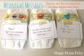 midnight messages for new mommies free printable happy home