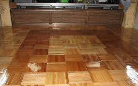 interlocking finished wood parquet tile flooring installation