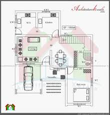 architecture kerala three bedroom two storey house plan ground