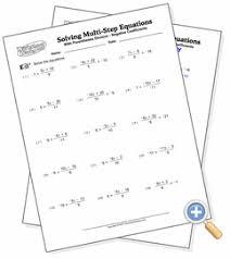 eliminating denominators solving multi step equations