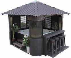 garden tub luxury spa gazebo jacuzzi relax bar kit 3 side