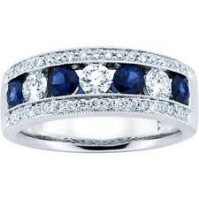 sapphire wedding ring 1 50 ct blue sapphire wedding band ring