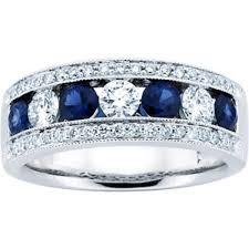 sapphire wedding ring 1 50 ct blue sapphire wedding band ring