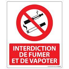 vapoter dans les bureaux panneau interdiction de fumer et vapoter plaques et panneaux