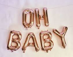 gold letter balloons gold letter mylar balloons oh baby 16 balloons