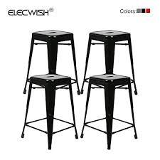 indoor outdoor counter height stool flash furnitur flash furniture 4 pk 24 high backless black metal indoor outdoor