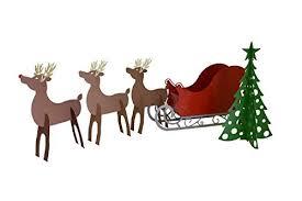 rmp santa sleigh with scroll base rudolph two reindeer