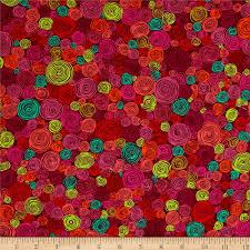 kaffe fassett home decor fabric kaffe fassett rolled paper red discount designer fabric fabric com