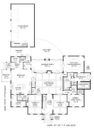 colonial style house plan 6 beds 5 5 baths 7908 sq ft plan 932