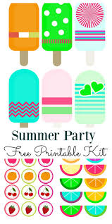 free printable halloween cupcake toppers summer party mini kit free printable